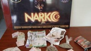 Edirne'de uyuşturucu operasyonunda 2 şüpheli gözaltına alındı