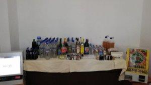 Tekirdağ'da 77 litre kaçak içki ele geçirildi