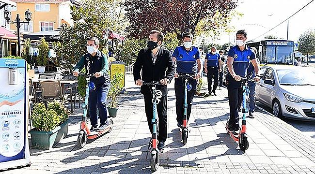 """Tuzla'da """"scooter""""lı zabıta dönemi başladı"""