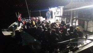 Çanakkale açıklarında 102 sığınmacı yakalandı