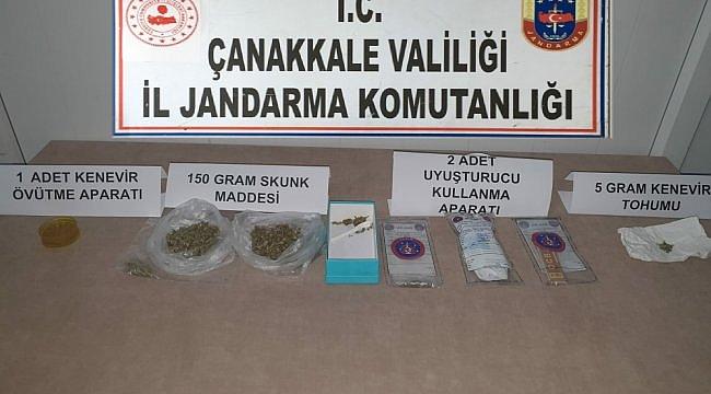 Çanakkale'deki uyuşturucu operasyonunda 2 şüpheli gözaltına alındı