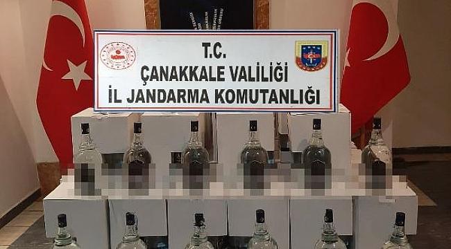 Çanakkale'de 888 litre kaçak etil alkol ele geçirildi