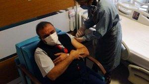 Çanakkale'de sağlık çalışanlarına aşı uygulaması başladı