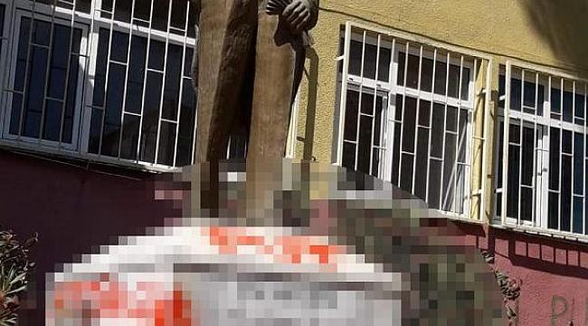 Tekirdağ'da Atatürk heykeline çirkin saldırı