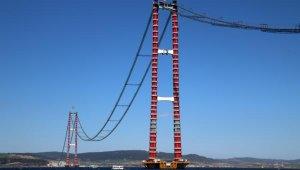 1915 Çanakkale Köprüsüana kablolarının 92'ncisi çekildi