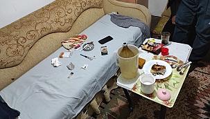 Çanakkale'de, evde yapılan uyuşturucu partisine polis baskını