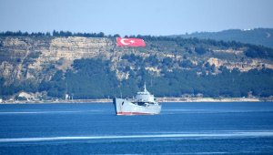 Çanakkale Boğazı'ndan peş peşe geçen Rus savaş gemileri Akdeniz'e iniyor