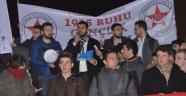"""Zulme karşı Çanakkale yürüyüşü... """"DOĞU TÜRKİSTAN İÇİN EL ELE"""""""